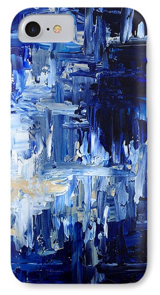 IPhone Case featuring the painting Stormy Waves by Rebecca Davis