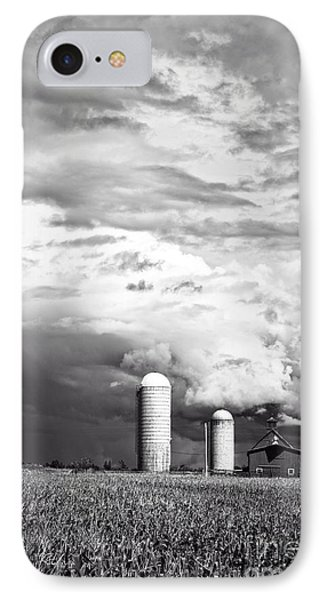 Stormy Weather On The Farm Phone Case by Edward Fielding