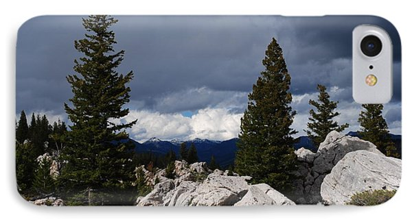 Stormy Yellowstone IPhone Case by Robert  Moss