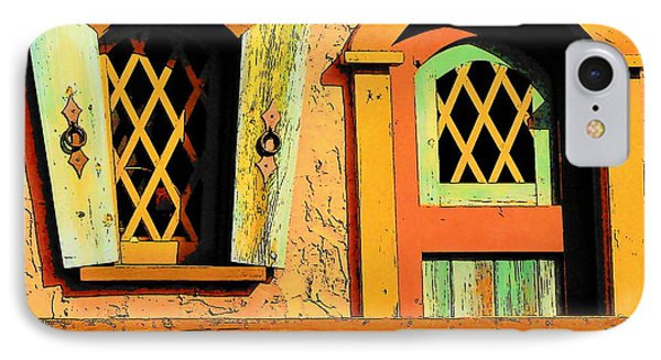 Storybook Window And Door IPhone Case by Rodney Lee Williams