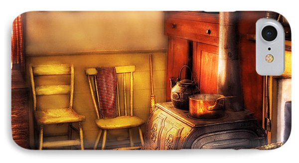 Stove - An Old Farm Kitchen IPhone Case by Mike Savad