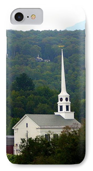 IPhone Case featuring the photograph Stowe Community Church by Patti Whitten
