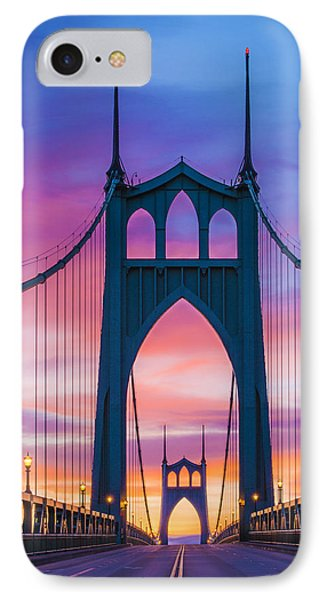Straight Down The Bridge IPhone Case by Lori Grimmett