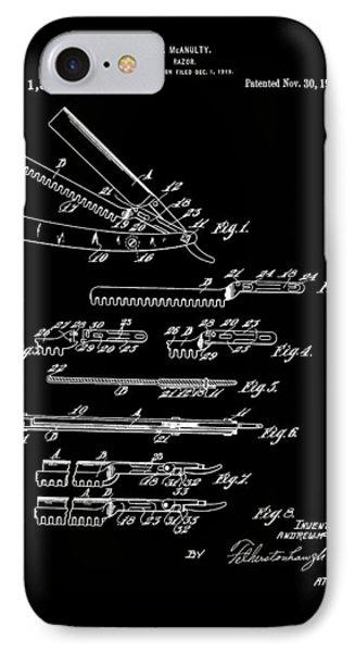 Straight Razor 1920 Mcnaulty IPhone Case by Lesa Fine