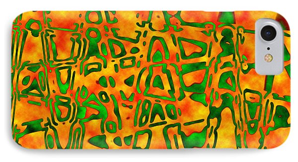 Strange Hieroglyphs IPhone Case by Mark Blauhoefer