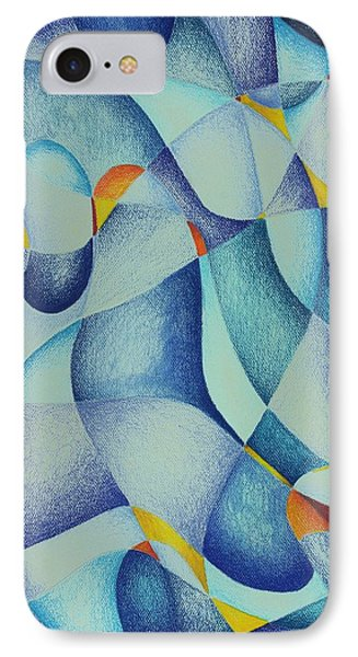 IPhone Case featuring the drawing Strangest Color Blue by Rick Ahlvers