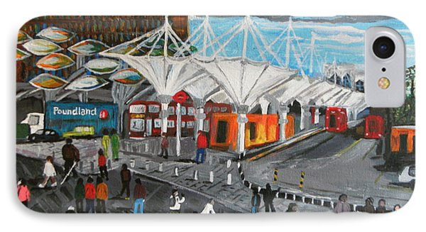 IPhone Case featuring the painting Stratford Bus Station Study 02 by Mudiama Kammoh