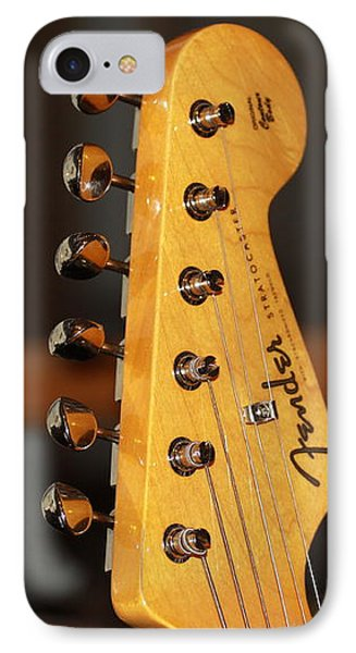 Stratocaster Headstock IPhone Case by Chris Thomas