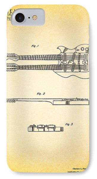 Stratosphere Double Neck Guitar Patent IPhone Case