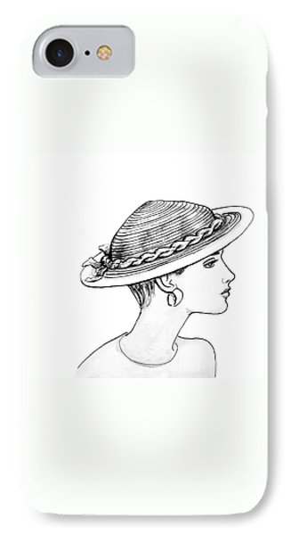 Straw Hat Phone Case by Sarah Parks
