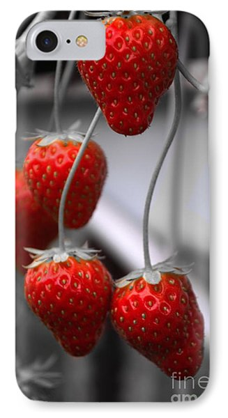 Strawberries IPhone Case by Michelle Meenawong