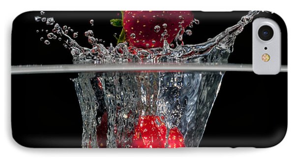 Strawberries Splashing In Water IPhone Case