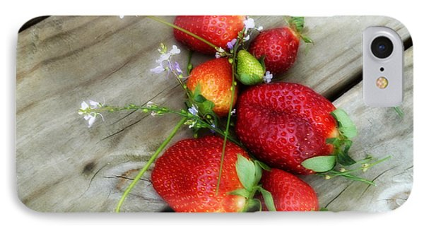 Strawberrries IPhone Case by Valerie Reeves