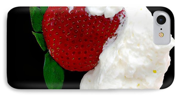 Strawberry And Cream Phone Case by Camille Lopez