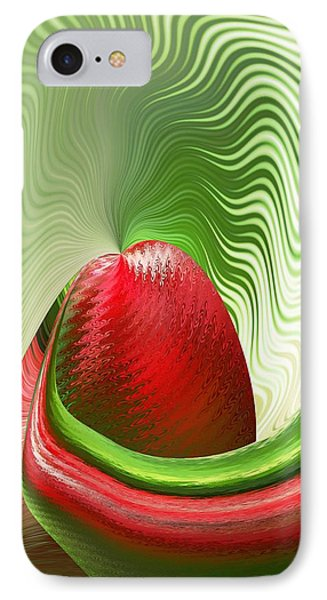 IPhone Case featuring the digital art Strawberry And Fan by rd Erickson