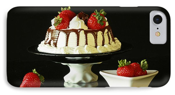 Strawberry Chocolate Dream Cake Phone Case by Inspired Nature Photography Fine Art Photography