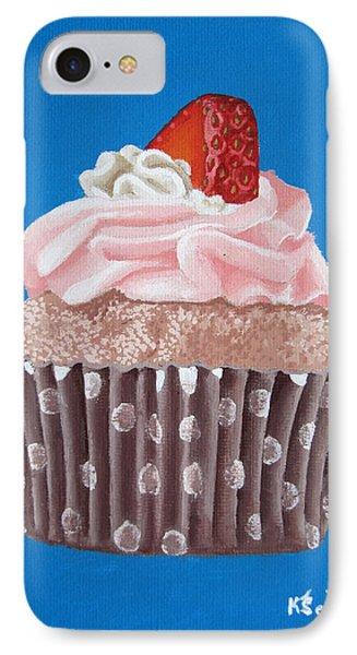 Strawberry Cupcake Phone Case by Kayleigh Semeniuk