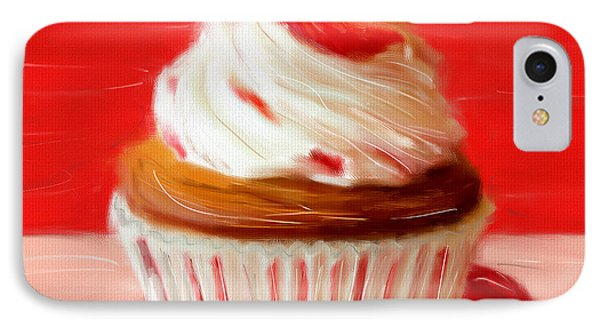 Strawberry Cupcake IPhone Case by Lourry Legarde