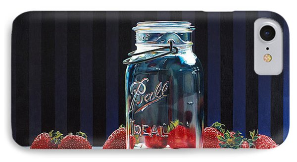 Strawberry Jam Phone Case by Arlene Steinberg