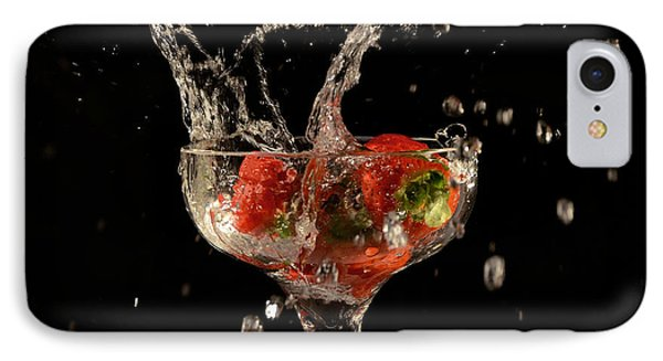 Strawberry Splash 1 IPhone Case by Thomas Born