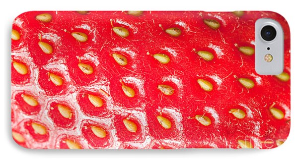 Strawberry Texture Phone Case by Sharon Dominick