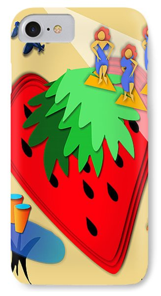 Strawberry Wars Phone Case by Bob Winberry