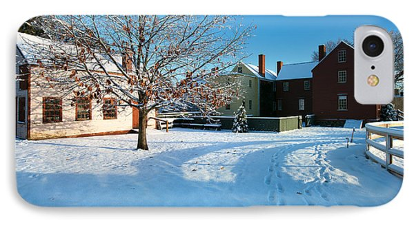 Strawbery Banke Snow IPhone Case by Eric Gendron