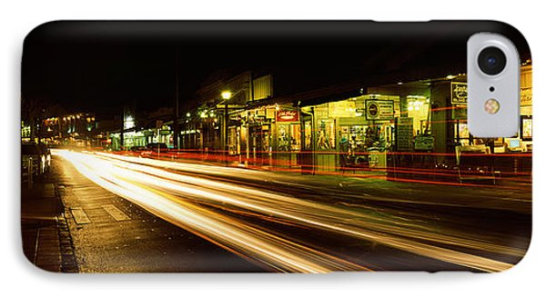 Streaks Of Lights On The Road In A City IPhone Case by Panoramic Images