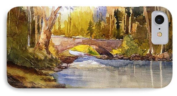 Stream And Bridge IPhone Case by Larry Hamilton