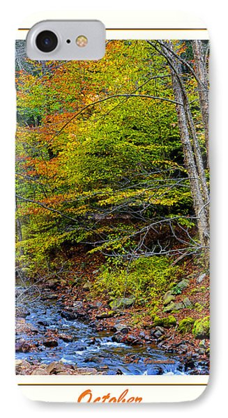 IPhone Case featuring the photograph Stream In Autumn Pocono Mountains Pennsylvania by A Gurmankin