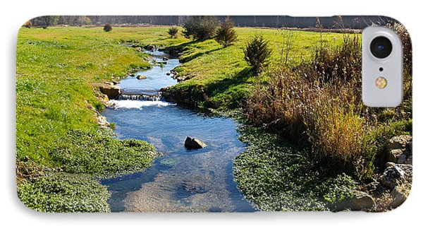 Stream In The Center IPhone Case by Susan Crossman Buscho