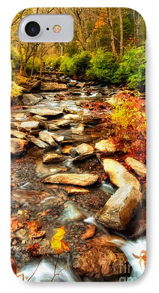 Stream Into Fall - Great Smokey Mountains IPhone Case