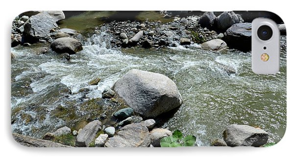 IPhone Case featuring the photograph Stream Water Foams And Rushes Past Boulders by Imran Ahmed