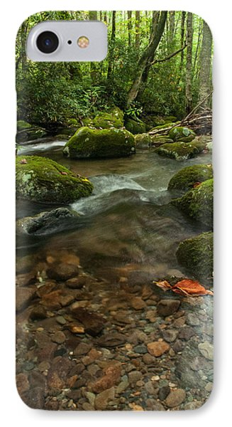 IPhone Case featuring the photograph Stream With The Color Of Early Fall. by Debbie Green