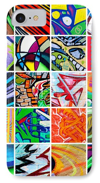 Street Art Patchwork Phone Case by Art Block Collections