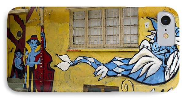Street Art Valparaiso Chile 12 Phone Case by Kurt Van Wagner