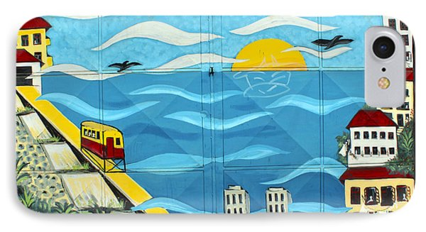 Street Art Valparaiso Chile 13 Phone Case by Kurt Van Wagner