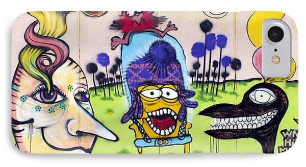Street Art Valparaiso Chile 3 Phone Case by Kurt Van Wagner