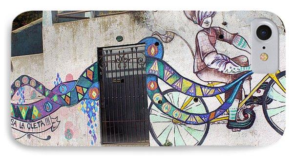 Street Art Valparaiso Chile Phone Case by Kurt Van Wagner