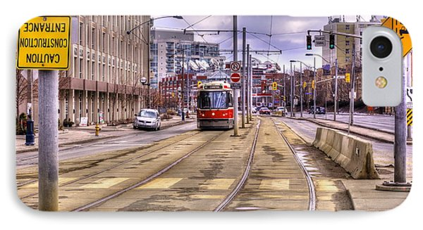 Street Car On Lakeshore IPhone Case by Nicky Jameson