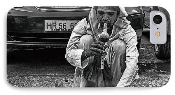 Street Corner Snake-charmer IPhone Case by John Hoey