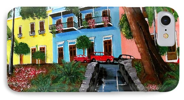 Street Hill In Old San Juan IPhone Case by Luis F Rodriguez
