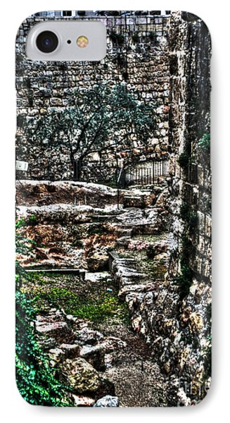IPhone Case featuring the photograph Street In Jerusalem by Doc Braham