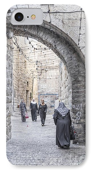 Street In Jerusalem Old Town Israel IPhone Case