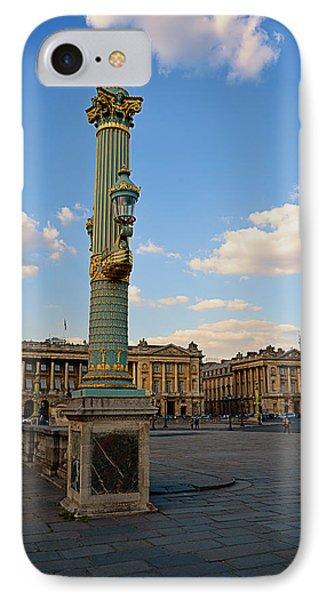 Street Lamps - Place De La Concorde Phone Case by Maria Angelica Maira