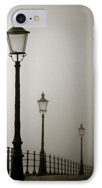 Street Lamps IPhone Case by Dave Bowman