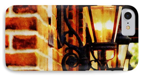 Street Lamps In Olde Town Phone Case by Michelle Calkins