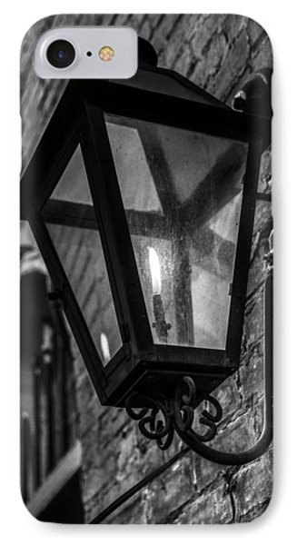 Street Light In Black And White Phone Case by John McGraw