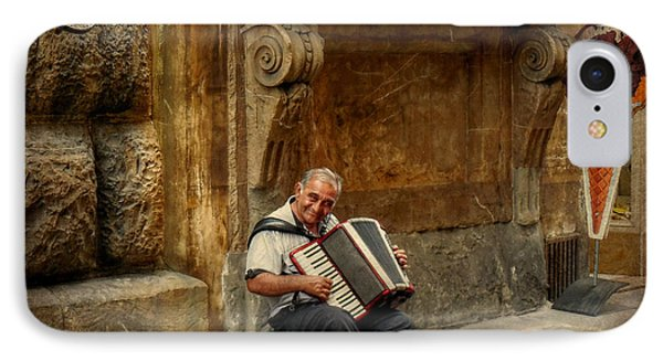 Street  Music IPhone Case by Valerie Reeves