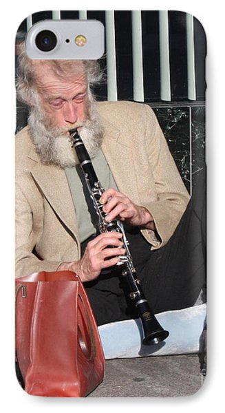 Street Musician Phone Case by John Telfer